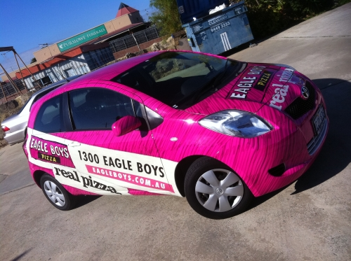 Eagle Boys car wrap