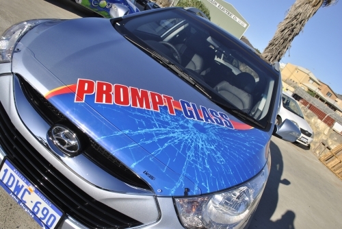 Prompt Glass Car Wrap