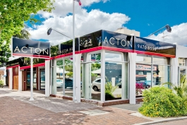 Building signage for Acton Real Estate in Victoria Park